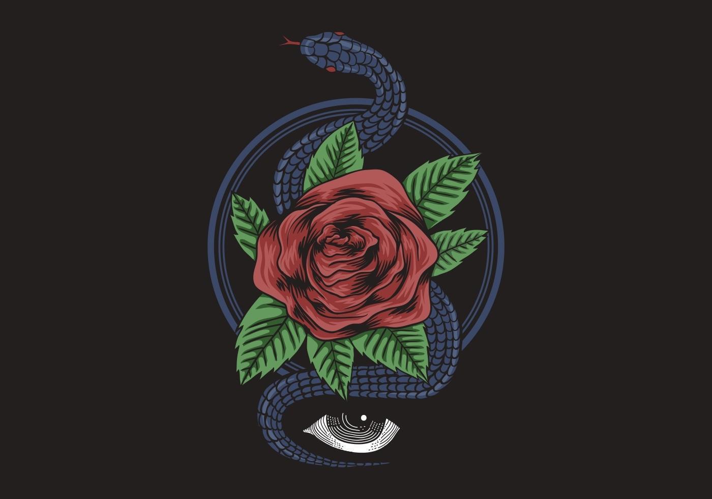occhio di serpente rosa vettore