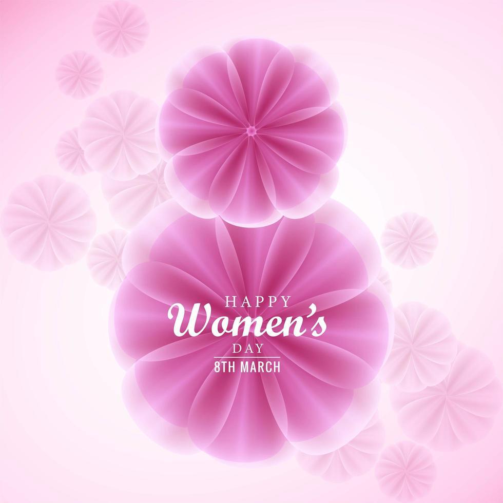 Biglietto per la festa delle 8 donne floreale astratto rosa vettore