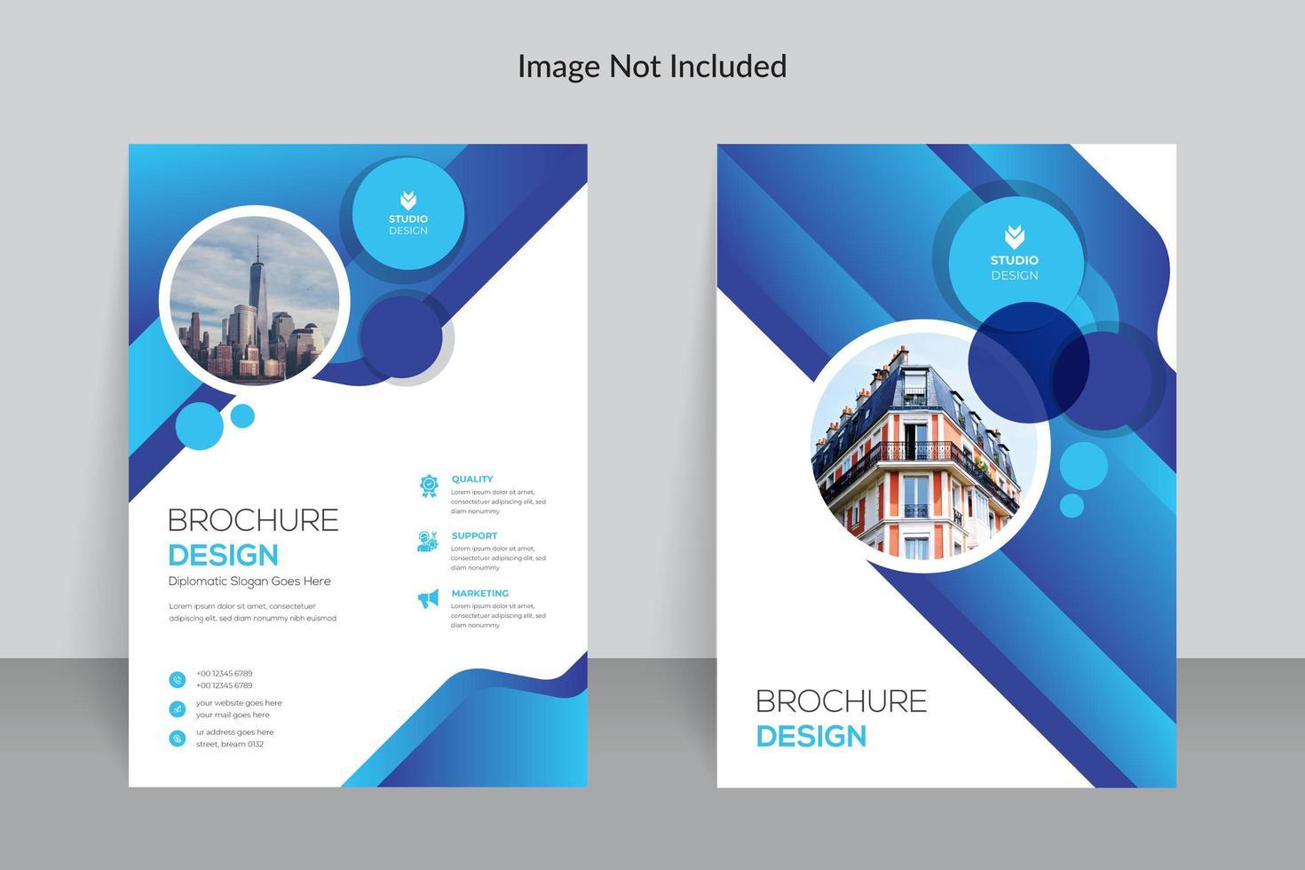 progettazione blu del modello del rapporto annuale di affari puliti vettore
