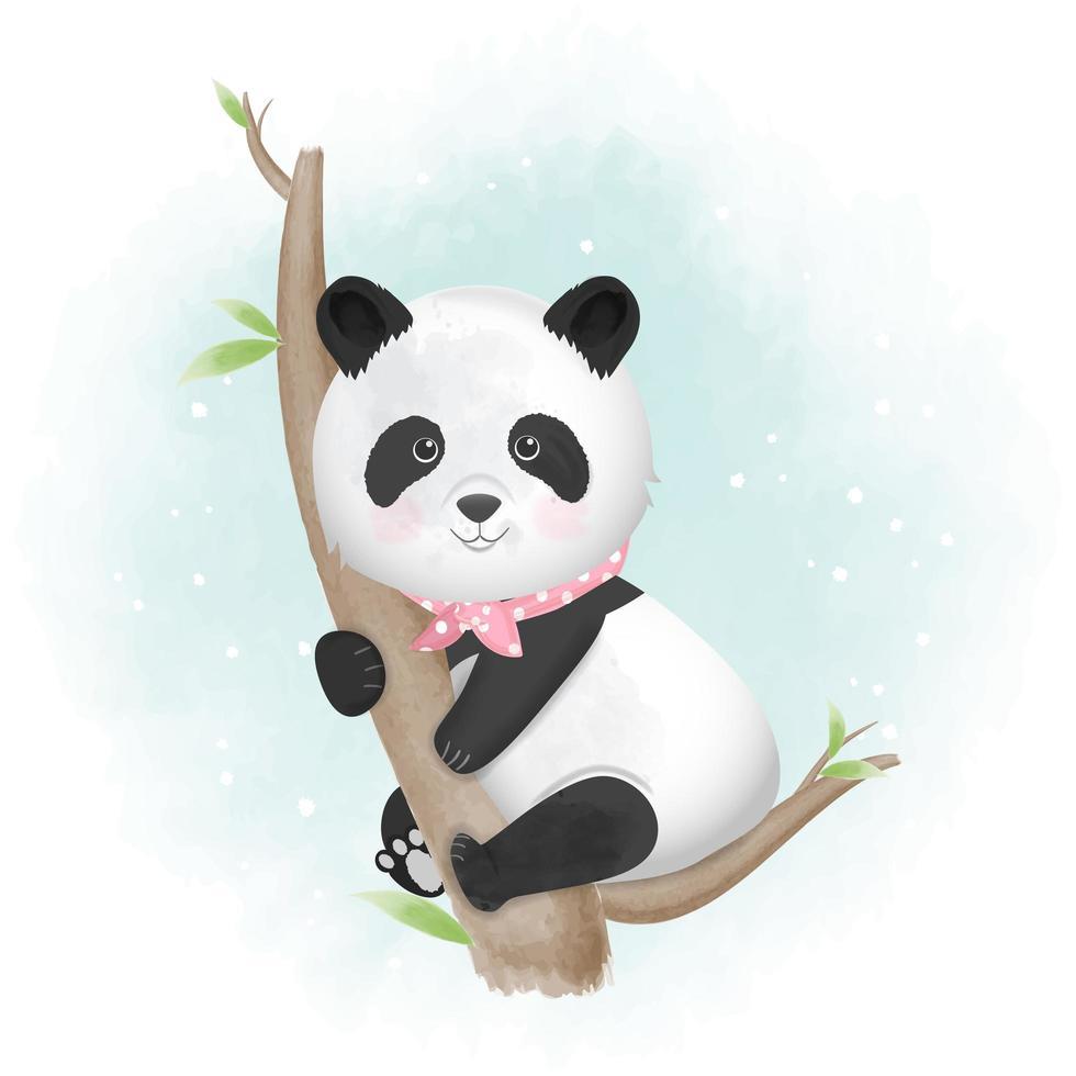 Panda illustrazione disegnata a mano animale vettore
