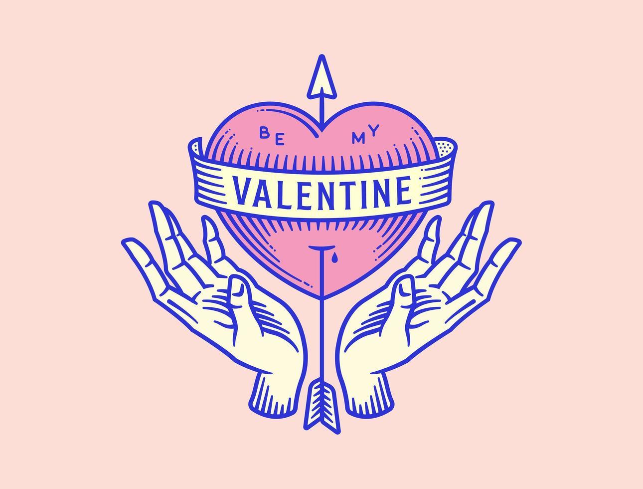 sii il mio san valentino vettore