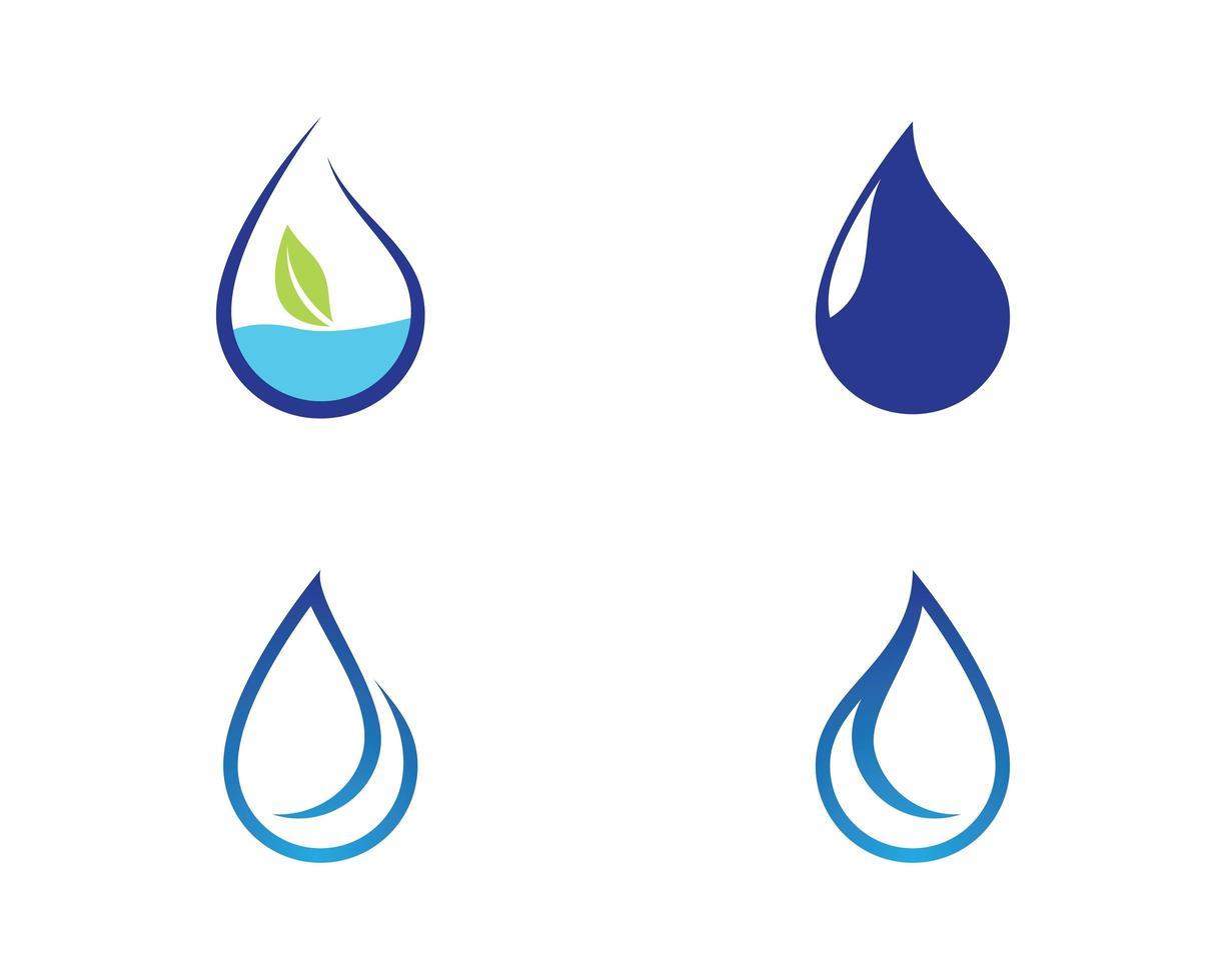 set di simboli goccia d'acqua vettore
