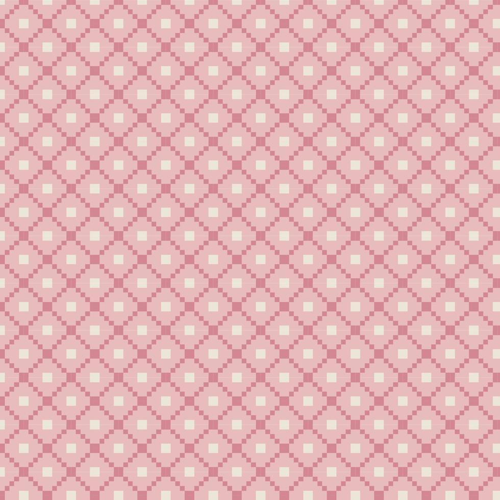 modello tradizionale rosa fair isle vettore