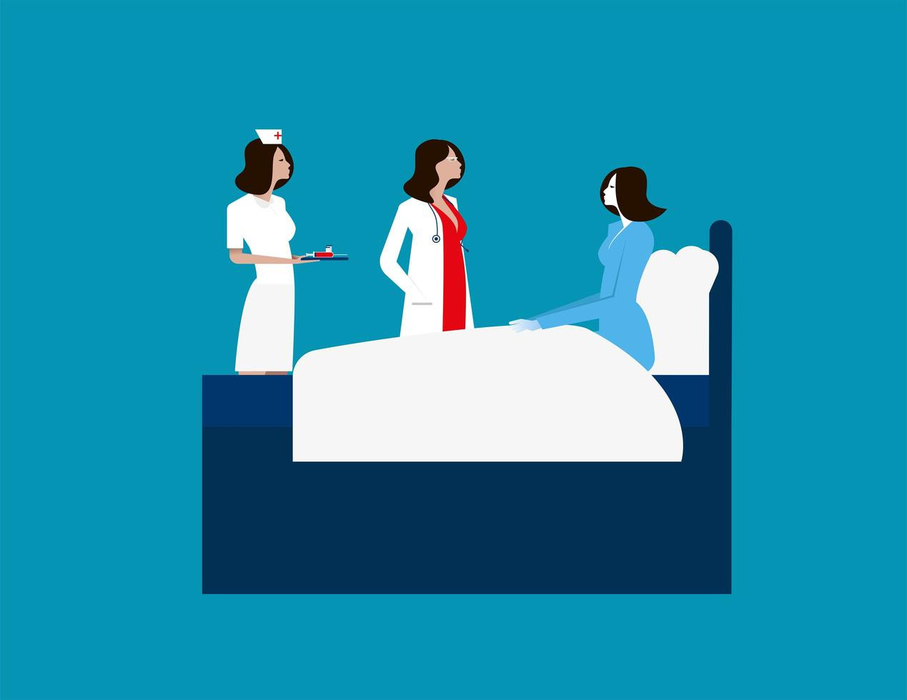 medico donne operatori sanitari dell'ospedale vettore