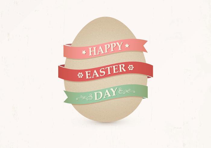 Vettore dell'uovo di Pasqua del cartone