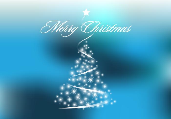 Vettore blu scintillante dell'albero di Natale
