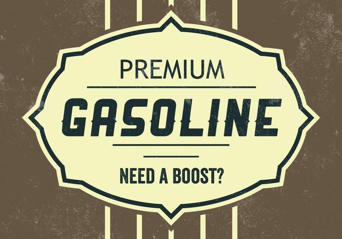 Sfondo vettoriale benzina premium