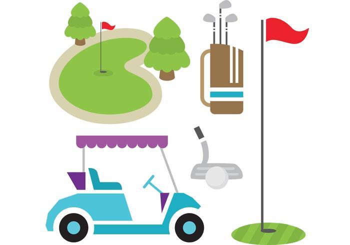 Articoli da golf vettore