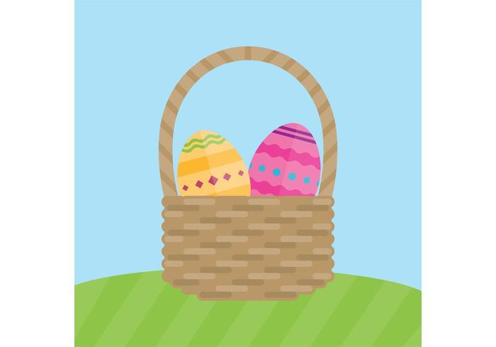 Canestro di vettori dell'uovo di Pasqua