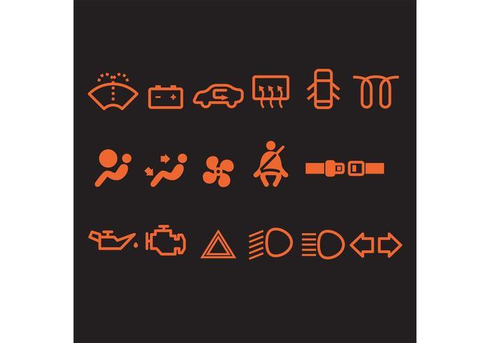 Icone vettoriali auto