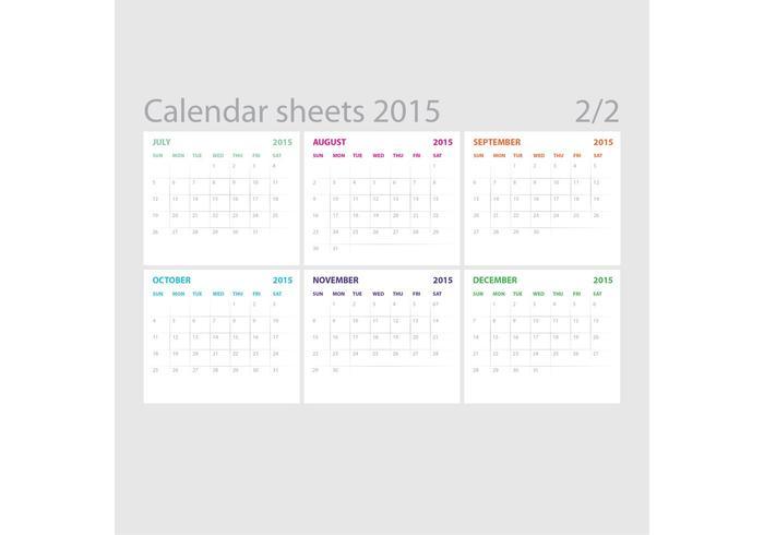 Fogli di calendario vettoriale 02