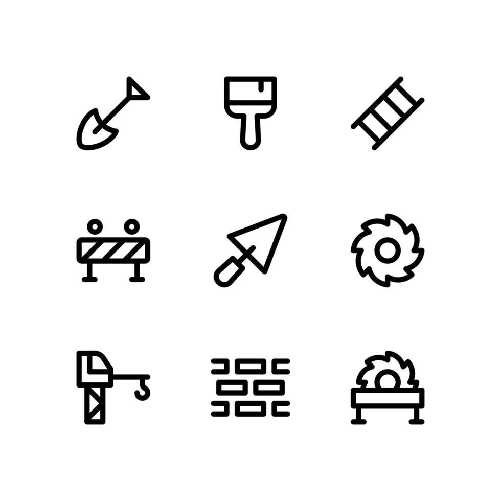 icone della linea di costruzione vettore