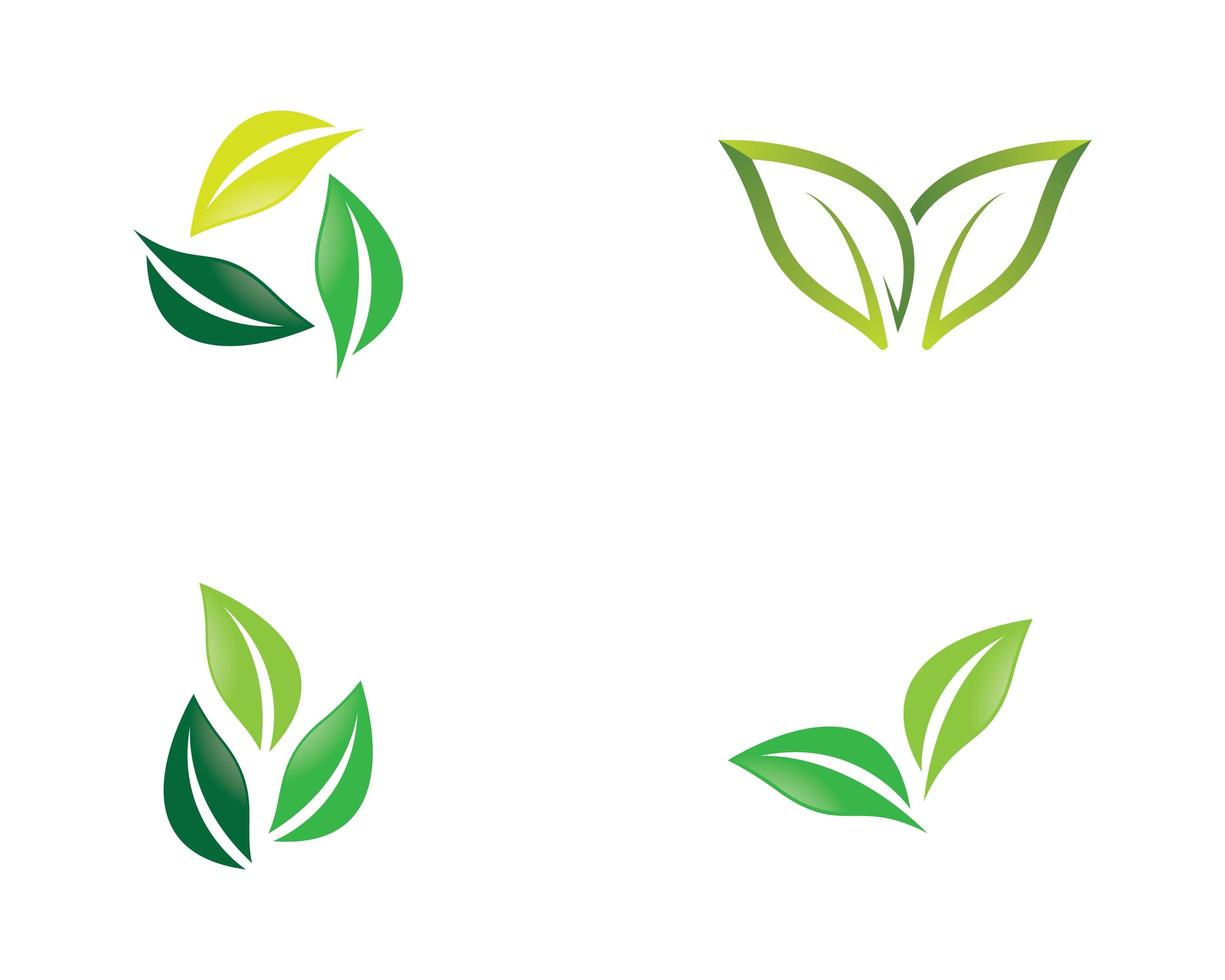 set logo ecologia vettore