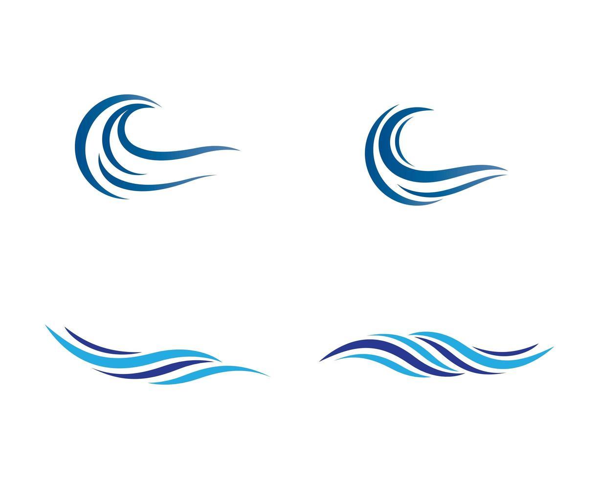 disegno di simbolo dell'onda vettore