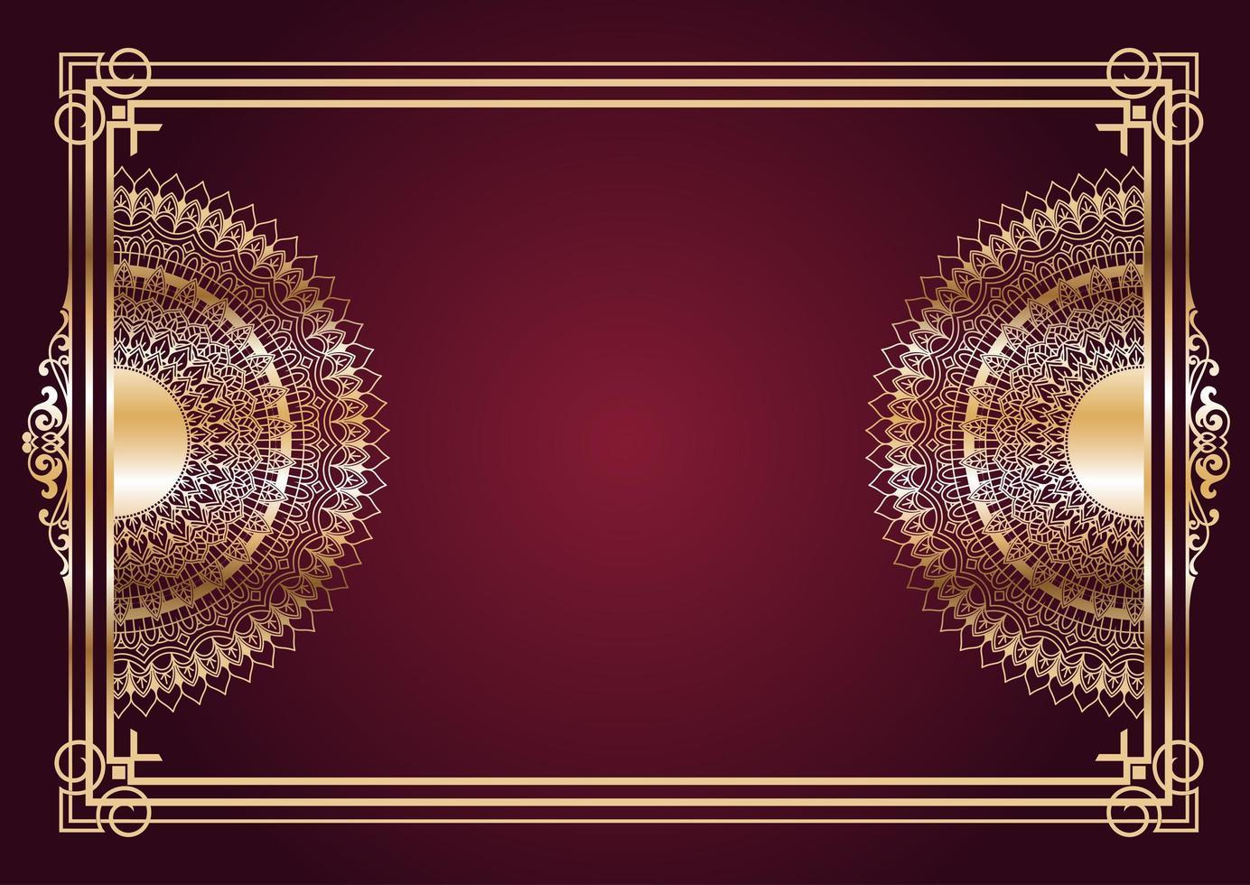 elegante sfondo di disegno mandala d'oro vettore