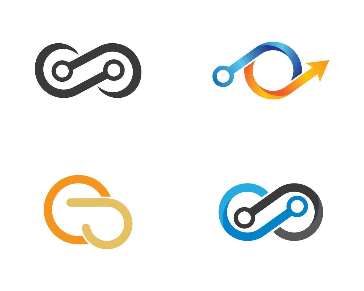 set logo astratto infinito vettore