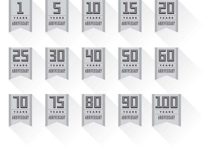 Vettori di banner distintivo anniversario
