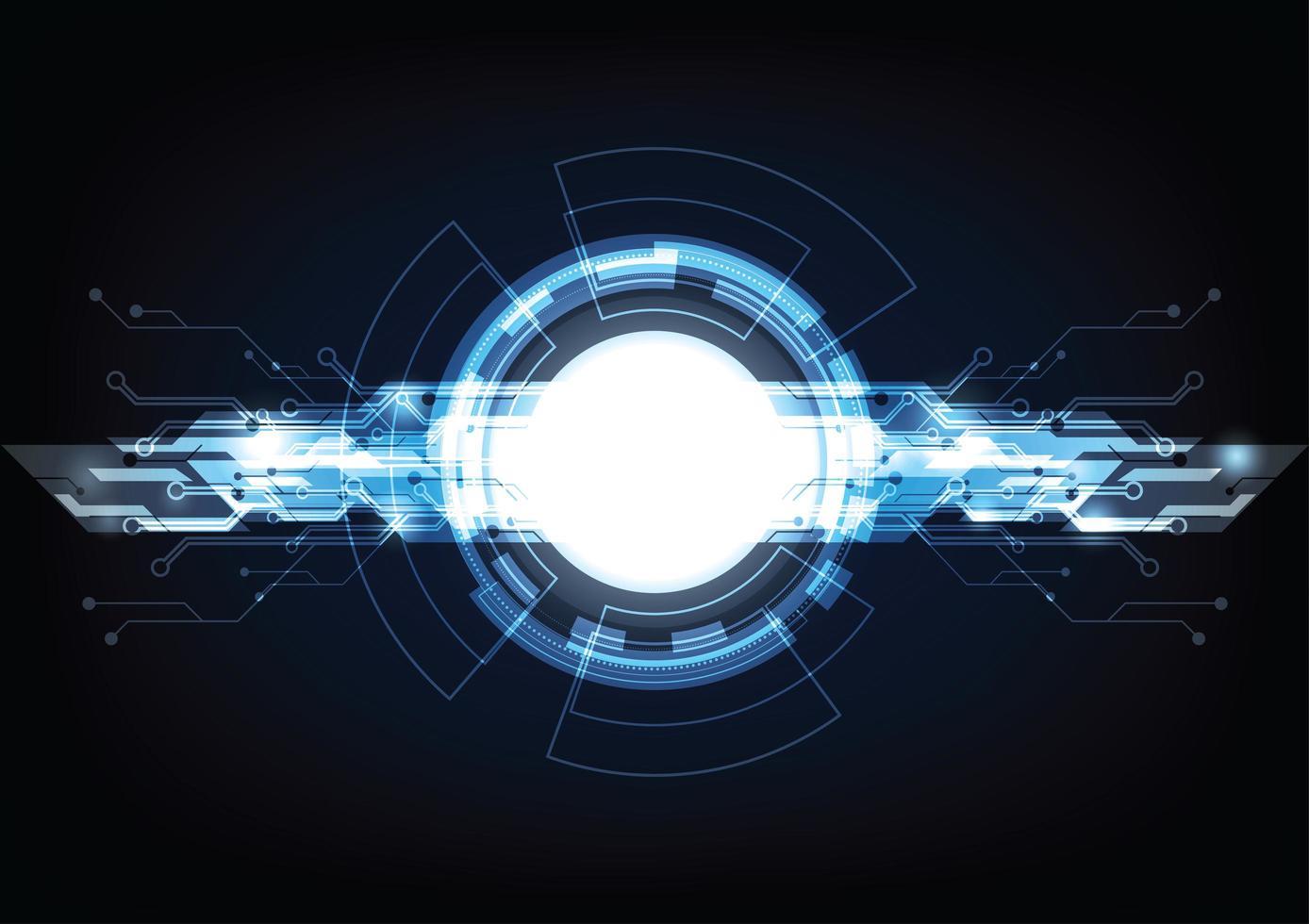 Hi-tech futuristico sfondo innovazione digitale vettore