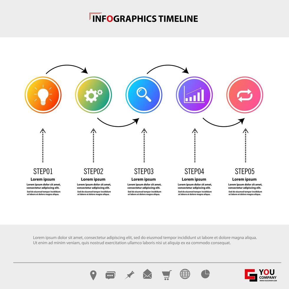 modello temporale infografica flusso di lavoro vettore