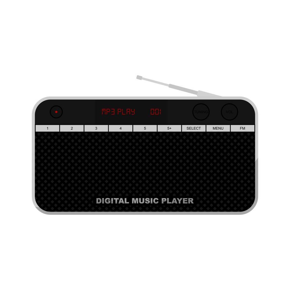 radio digitale e lettore musicale vettore