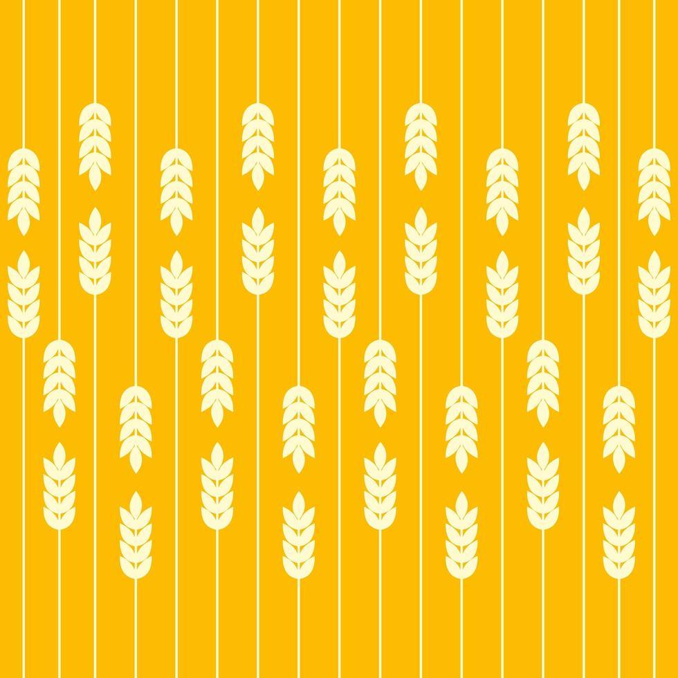 campo di grano senza cuciture vettore