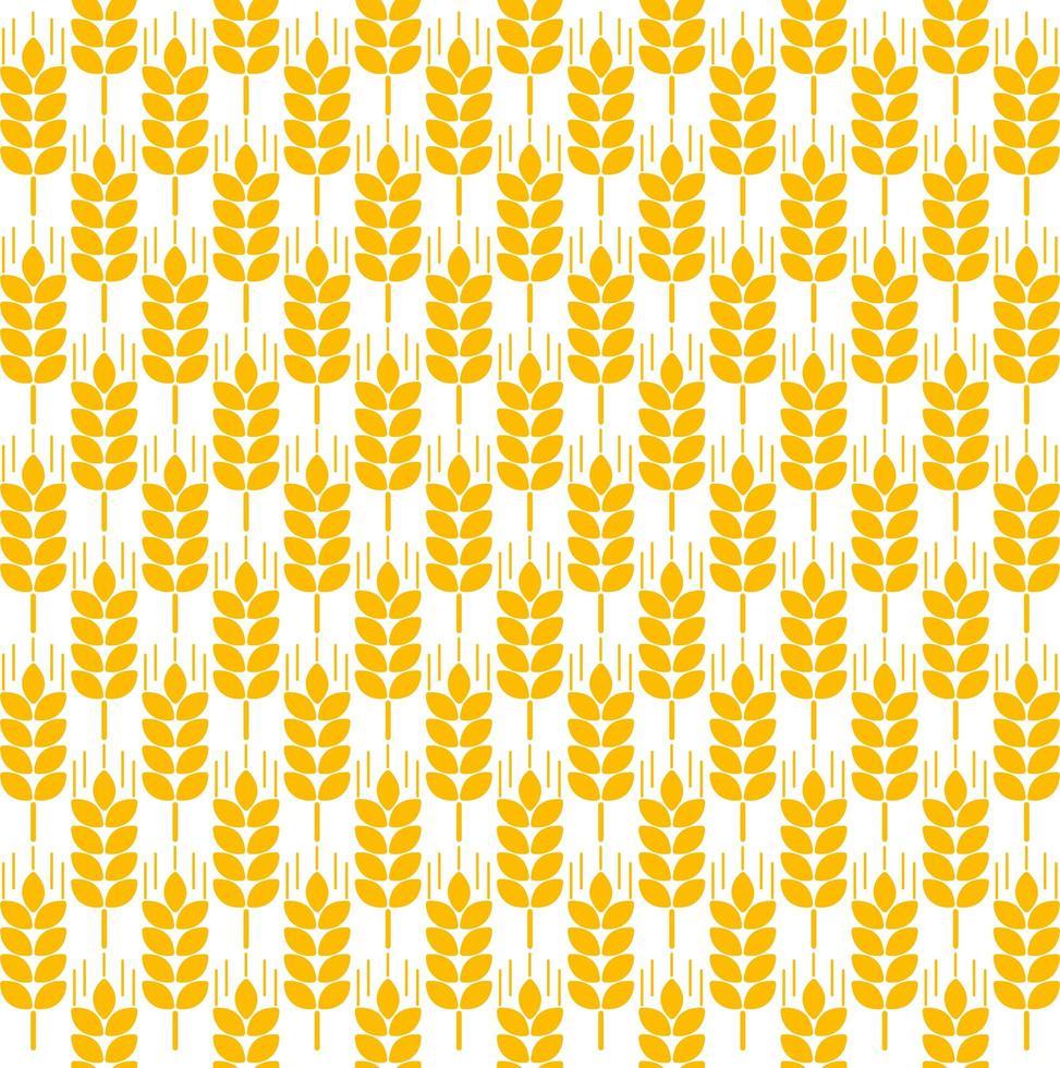 seamless pattern di spighe di grano vettore