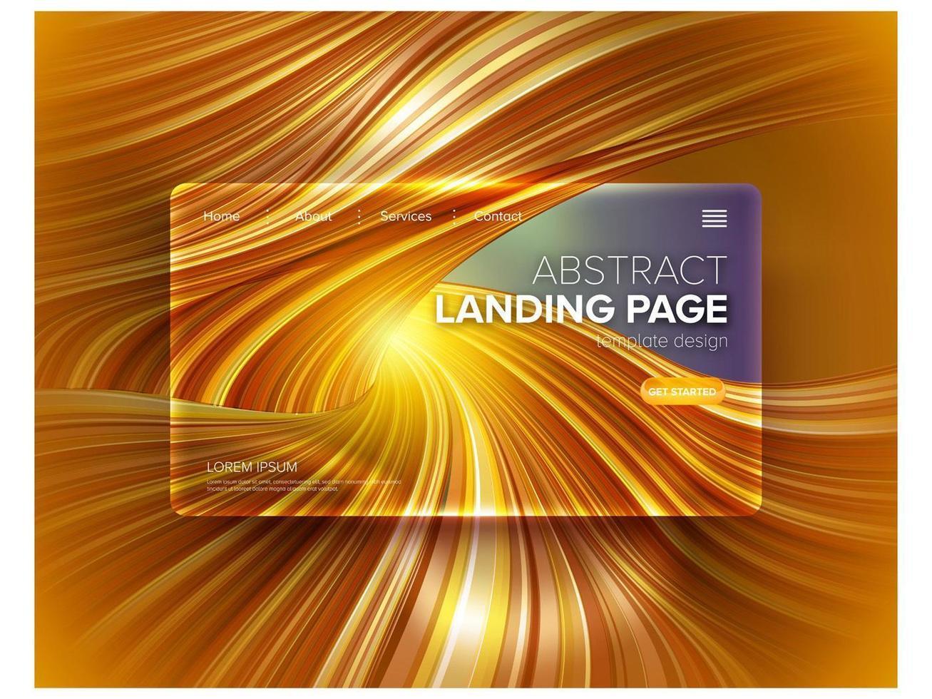 arte dell'antilope dorata per landing page vettore