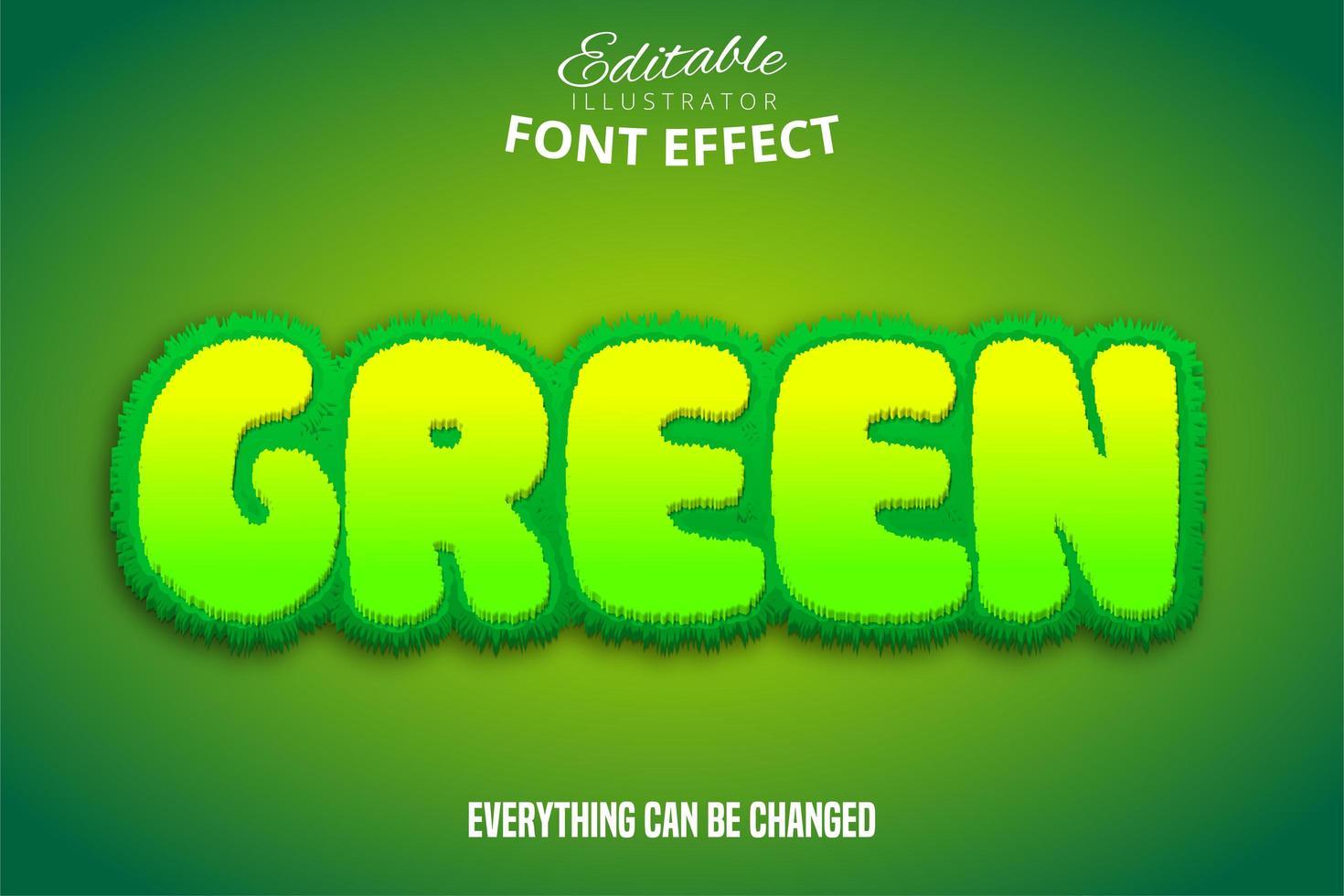 testo verde, effetto carattere modificabile vettore