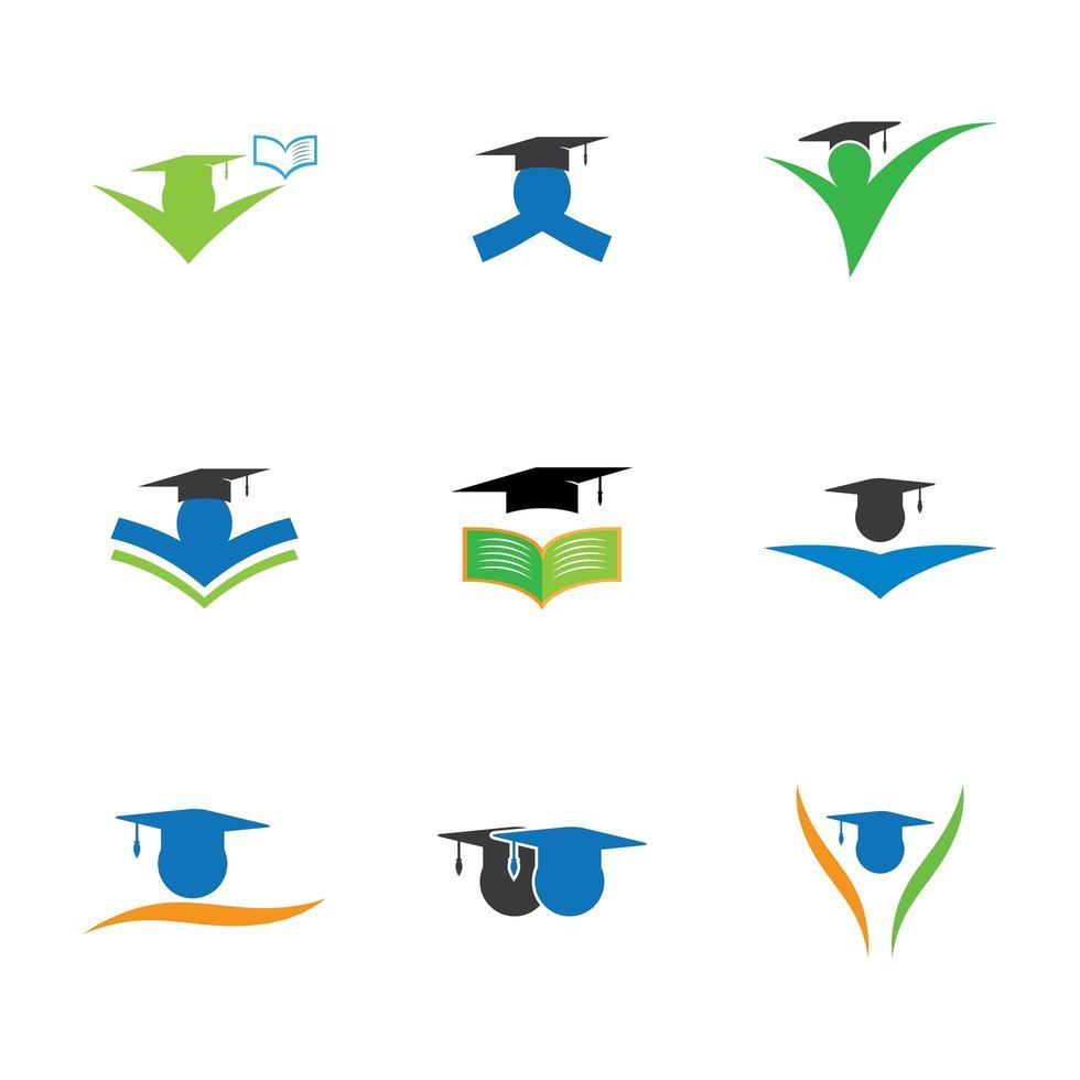 set di icone di educazione vettore