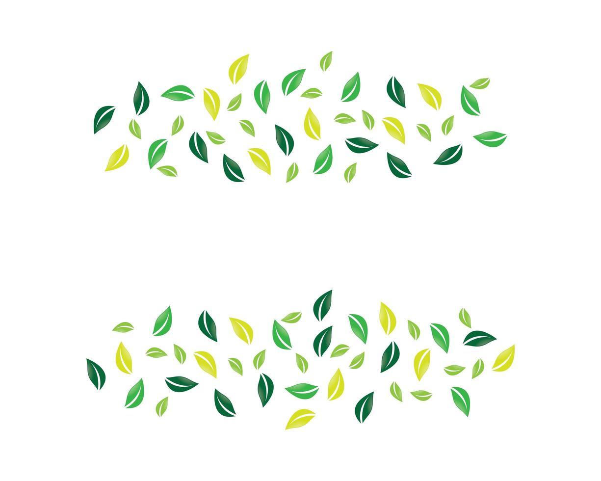 concetto di cluster di foglie vettore