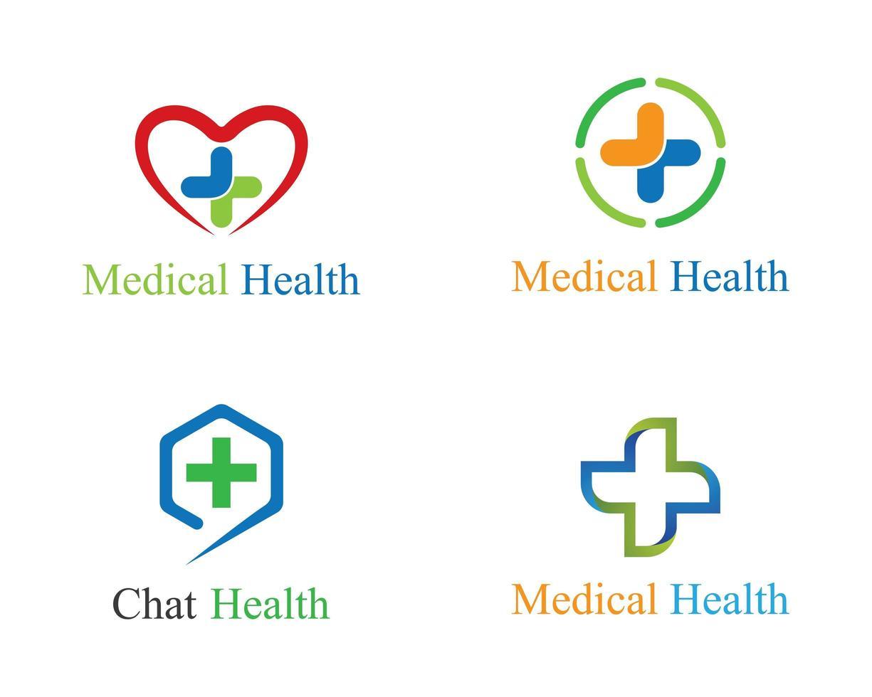 set di modelli di logo medico vettore