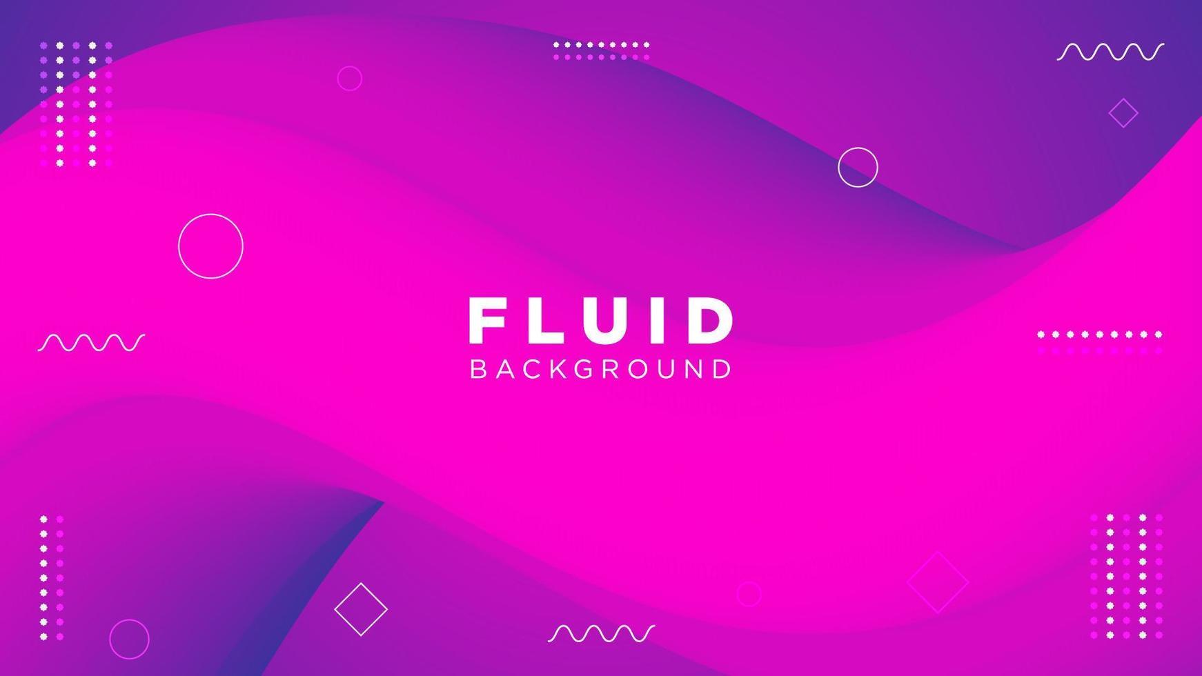 fluido viola sfumato sfondo curvo vettore