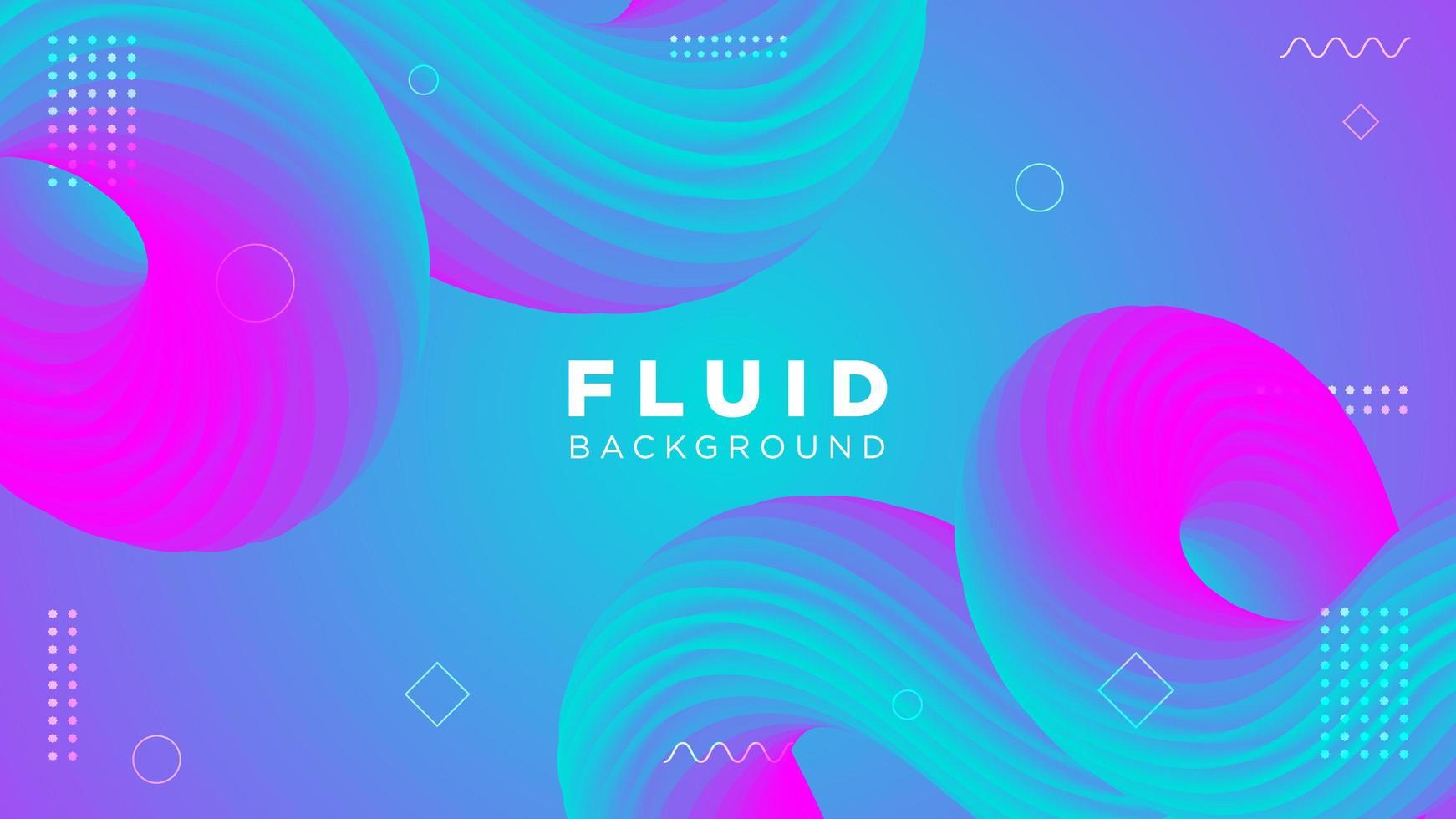 fluido colorato sfondo curvo vettore