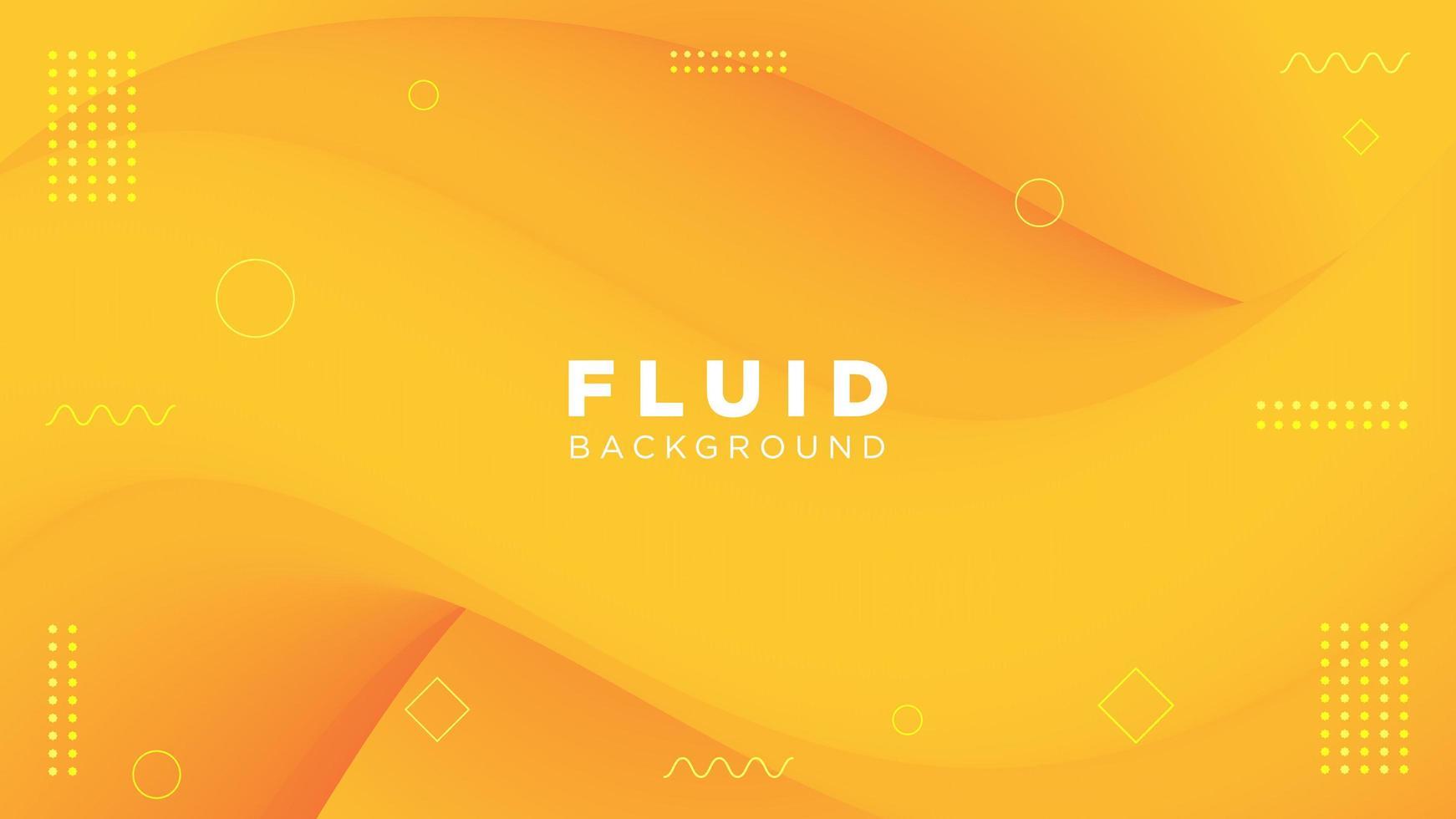 sfondo giallo movimento fluido vettore