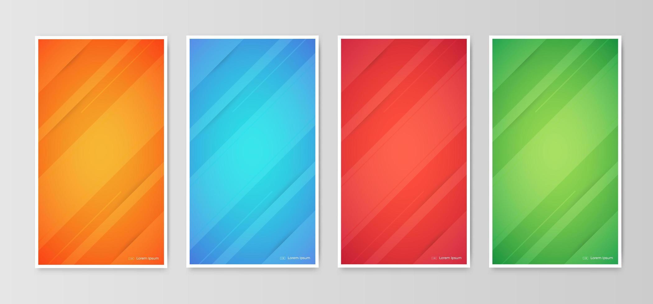 disegni geometrici astratti di copertura gradiente vettore