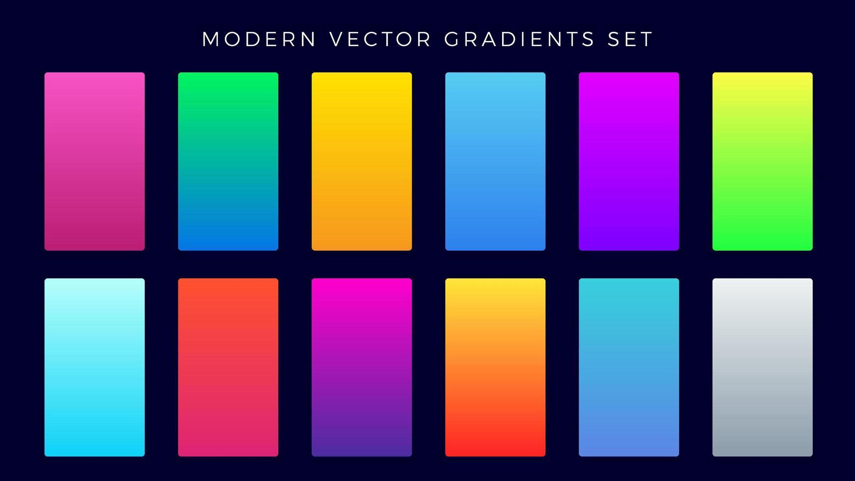 set gradiente moderno vettore