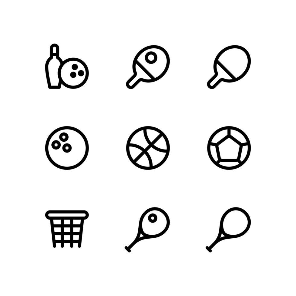 icone linea sport vettore