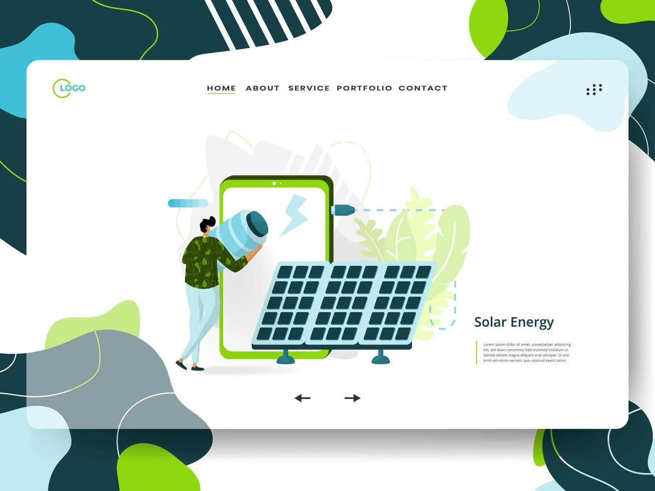 landing page energia solare vettore