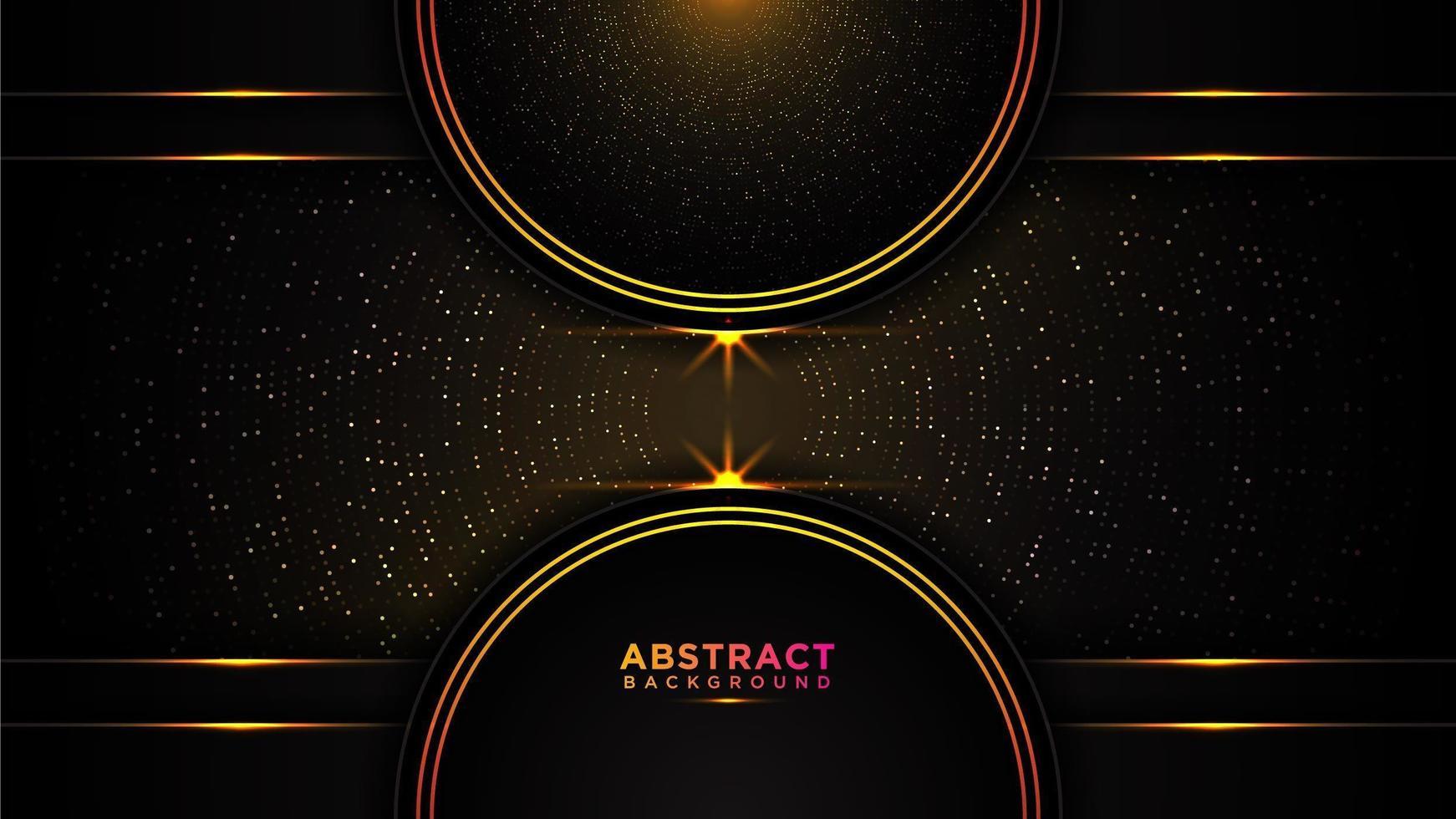 sfondo astratto cerchio nero e oro vettore