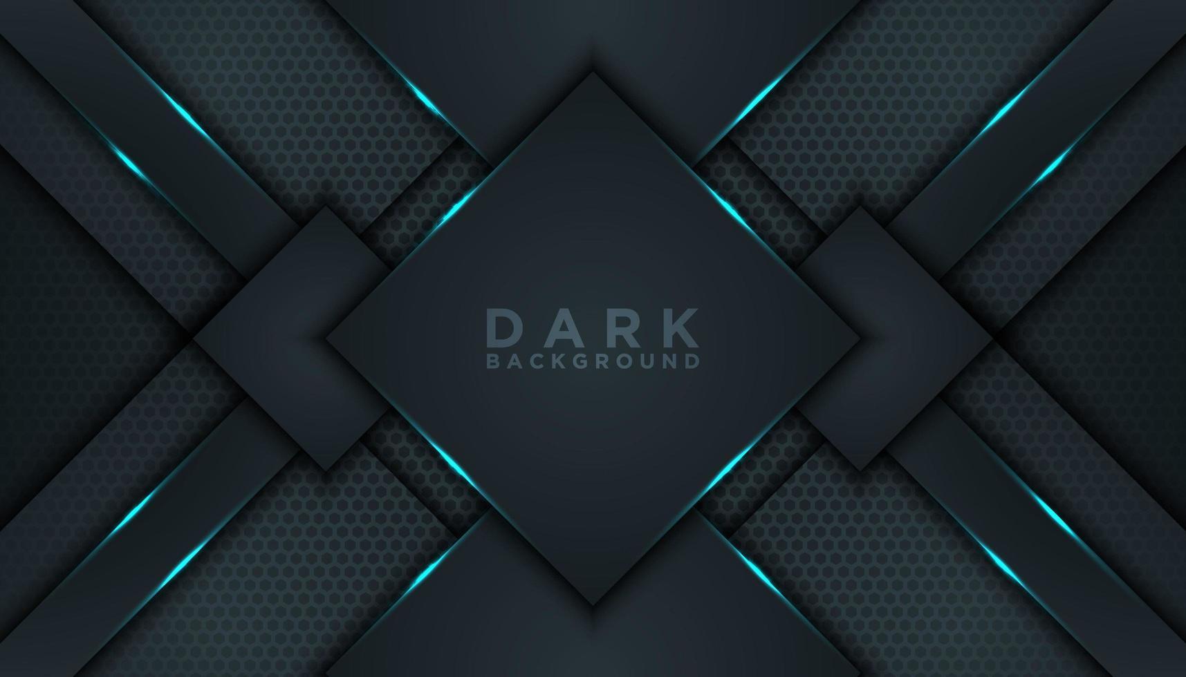 sfondo di forma astratta diamante nero vettore