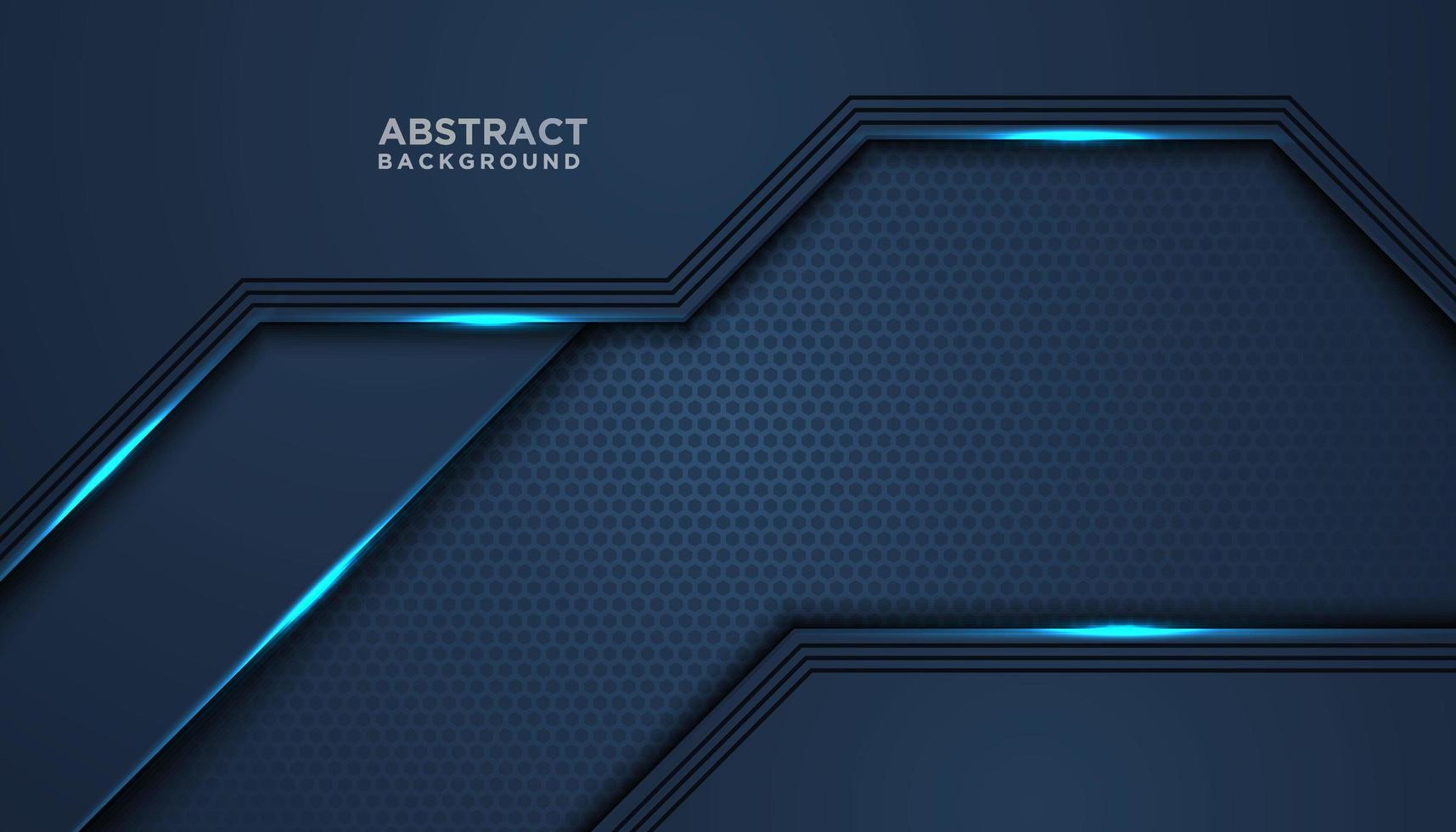 sfondo di strato sovrapposto lucido blu vettore