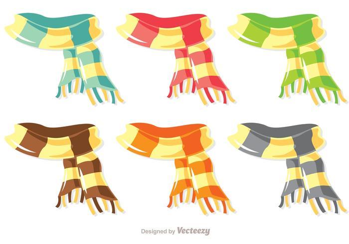 Pacchetto di vettore sciarpa colorata