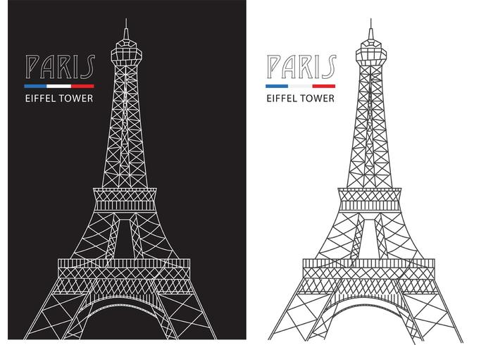 Linea astratta vettore di Torre Eiffel