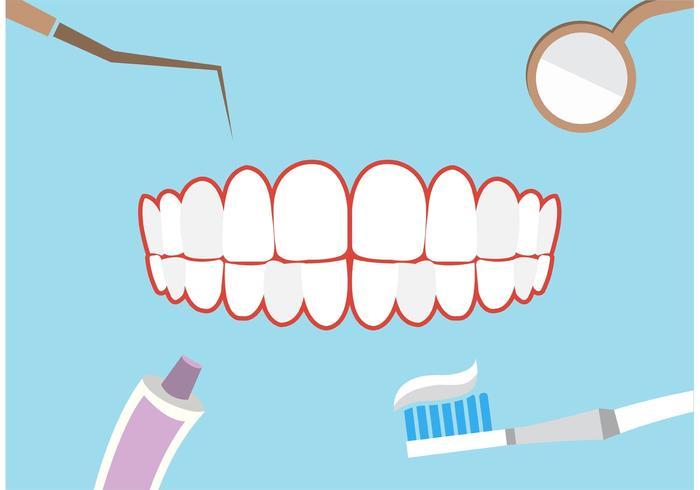 Sfondo tema dentale vettore