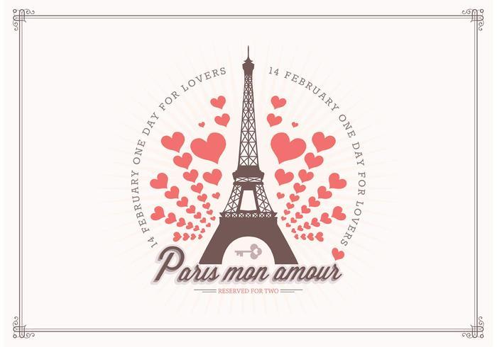Amore libero nel fondo di vettore di Parigi