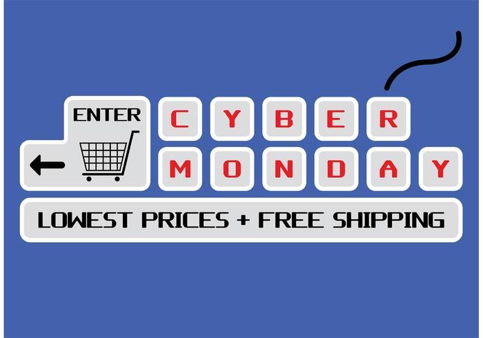 vettore di cyber lunedì