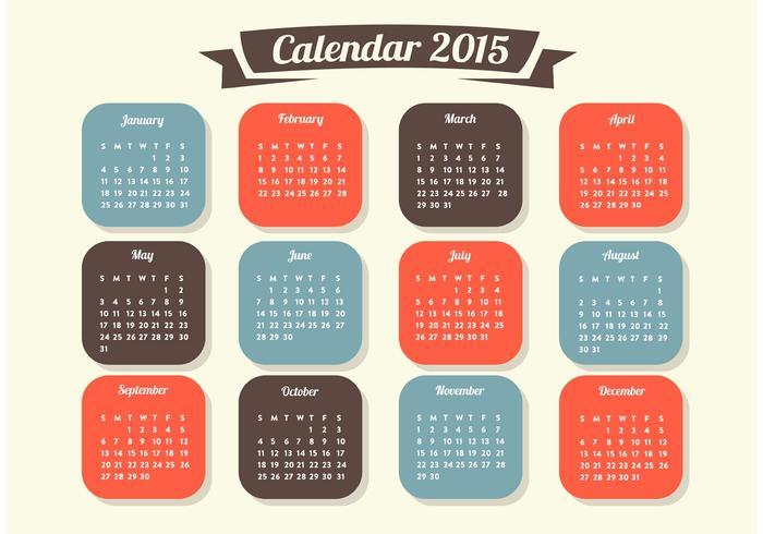Vettore del calendario 2015