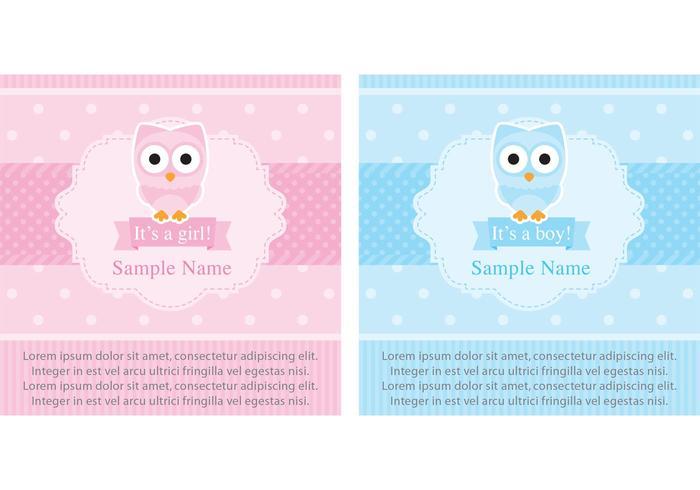 scrapbook baby shower cards vettore