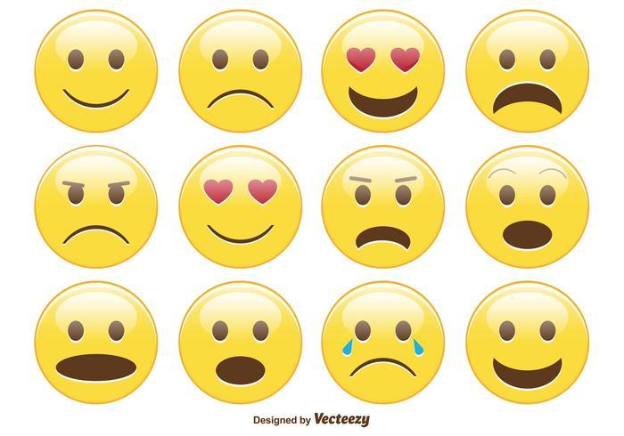 Cute Emoticon / Emoticon Set vettore