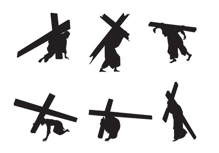 vettore sagome di Gesù